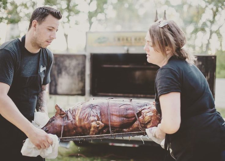 Come check out @countyfairto this weekend for some delicious BBQ pit fired whole pig with mega super babe @chefcharlottelangley and other cool peeps @latino5spice @natetasty @chefmattblondin @kungfudawg @isleelba @hassel_aviles #countyfair #reunitedanditfeelssogood #swinetime