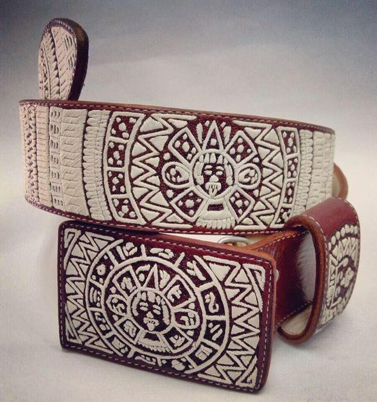 """Fajo Piteado Mod. """"Terrateniente Delux"""" Talla/Siza (36) fajo bordado en pita fina con diseño del sol Azteca, varias tallas en gruesos de dos pulgadas..... . #3R #Pita #Piteado #Fajos #r3volucion1910 #ZapataLegion #VillaGendarmerie #belts #charros #hechoenmexico #leather #escaramuzas #cowboys #caballos #elartedeunlegado #vaqueros #NewProduct #hechoamano #artesanal #vaquero #charro #charreria #caballo #countrylife #monturas #leather #artesanal #charreria #mexico #hechoamano #belts #..."""