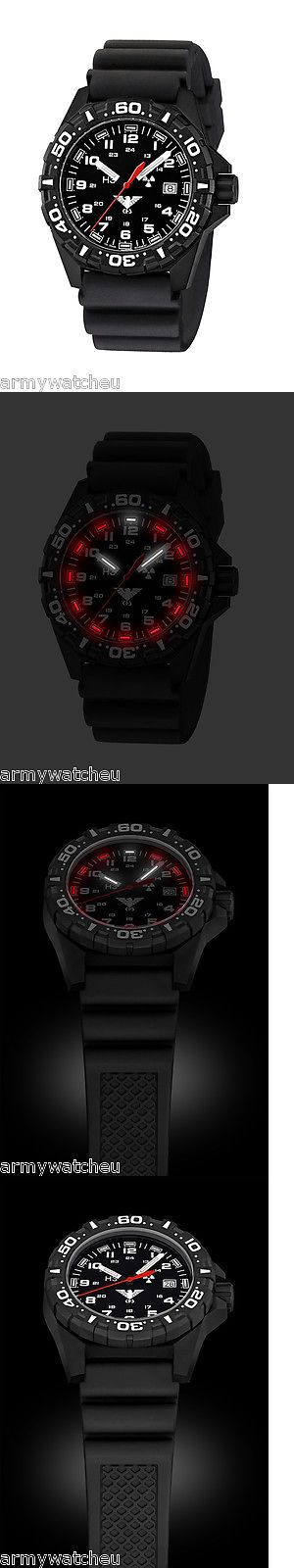 Hang Gliding and Paragliding 91561: Khs Tactical Watches Red Reaper H3 Military Field Watch Date Diver Band Black BUY IT NOW ONLY: $264.9