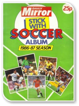 Daily Mirror Stick With Soccer 1986-1987
