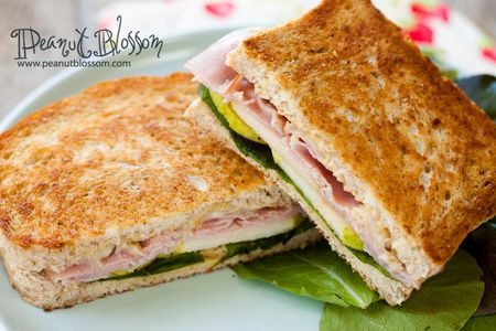 Grilled sandwiches: pear, ham, arugula | Food | Pinterest