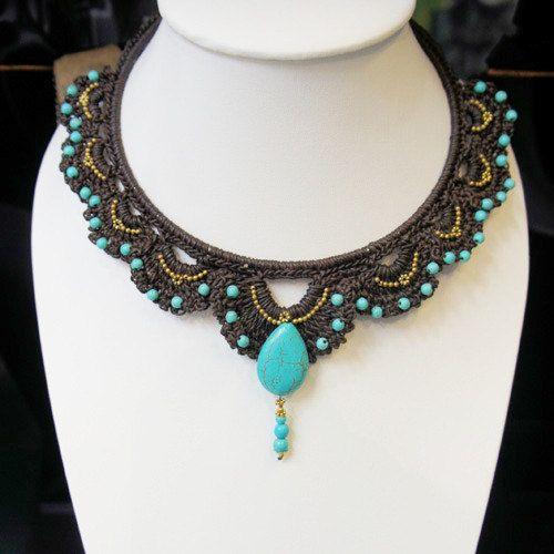 LaiThai Crochet necklace. $14,90, via Etsy.