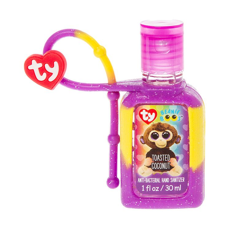 <P>Some say I'm a strange-looking monkey. My legs are short and my body is chunky!</P><P>Your favorite Beanie Boo just got even cooler! Coconut the brown monkey will keep you bacteria free with this toasted coconut scented hand sanitizer. </P><P><B>Hand Sanitizer</B> by <B>Ty</B></P><UL><LI>Toasted coconut scented <LI>Birthday: July 27th <LI>Suitable for children aged 3+ </LI></UL>