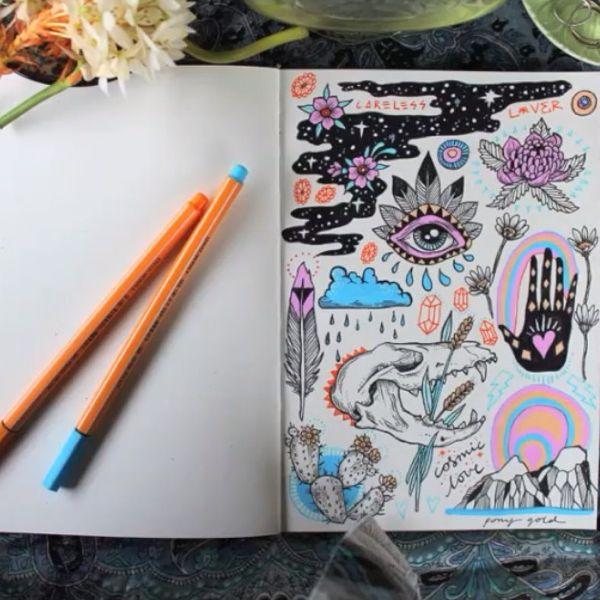 Pin do a mariana em journal doodles pinterest for Cama 0 90 x 1 90