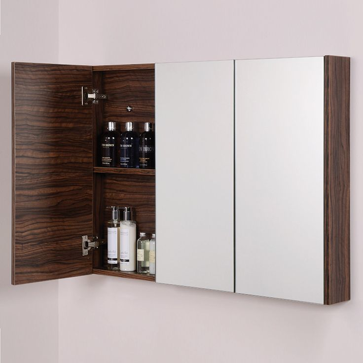 Inspirational The Orla slimline cm mirror cabinet in walnut is patible with all of our Walnut bathroom