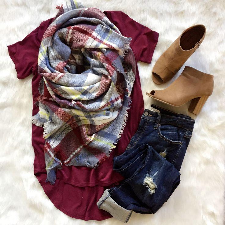 || Light Blue & Maroon Blanket ||