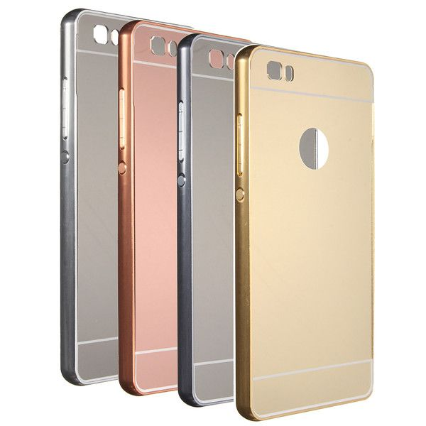 Metal Frame Mirror Hard Back Cover Case For Huawei Ascend P8 Lite