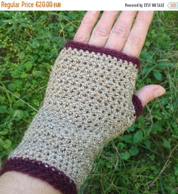 ON SALE 50% Off Fingerless gloves Sparkling by PixiesFairies