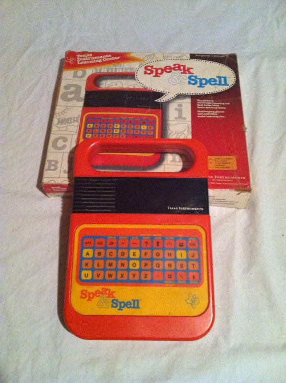 Who needed a iPhone when we had speak n spells! Ha! 1980s Electronic Games