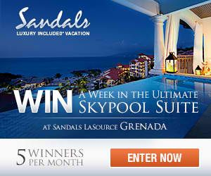 Grenada All Inclusive Sandals - The Sky's The Limit On What You Can Win - http://www.diveguide.com/forums/showthread.php?20822-Grenada-All-Inclusive-Sandals-The-Sky-s-The-Limit-On-What-You-Can-Win