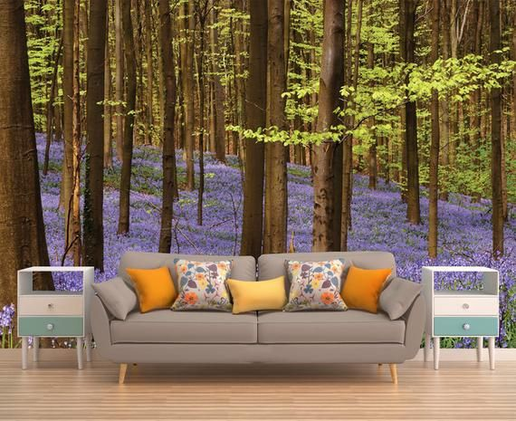 Forest Wall Mural Forest Wallpaper Forest Tree Wall Mural Tree