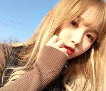 Blonde , honey blonde , strawberry blonde asian girl hair