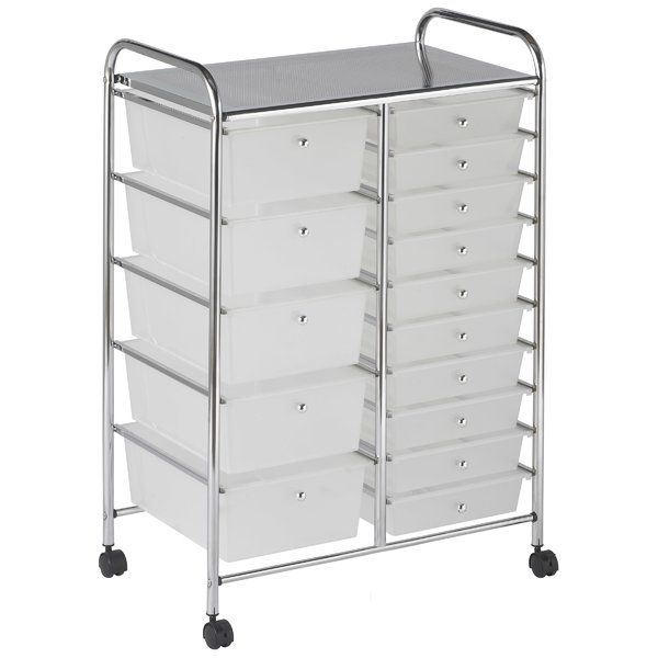 This Practical Organizer Can Hold Just About Everything From Art And Crafts Projects To Office Supplies O Storage Drawers Mobile Organization Organization Cart