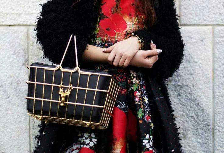 Details!   #red #dress #milanfashionweek #street