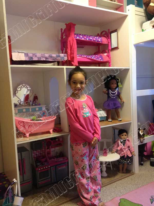"""18 Diy Room Decor Ideas For Crafters: American Girl Dollhouse DIY For $150. 18"""" Doll Room"""