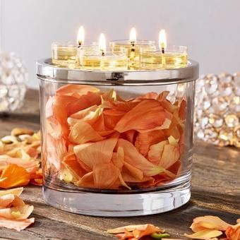 CLEARLY CREATIVE RAISED TEALIGHT HOLDER