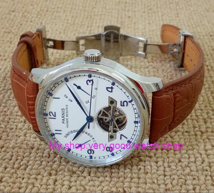 43MM PARNIS Butterfly buckle ST2530 Automatic Self-Wind movement white dial power reserve men's watch brown Leather Strap     Tag a friend who would love this!     FREE Shipping Worldwide     Get it here ---> https://shoppingafter.com/products/43mm-parnis-butterfly-buckle-st2530-automatic-self-wind-movement-white-dial-power-reserve-mens-watch-brown-leather-strap/