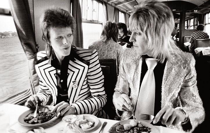 David Bowie and Rod Stewart (Mick Rock)