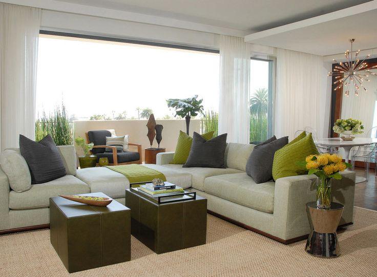 Угловые диваны в интерьере гостиной комнаты: современные идеи дизайна