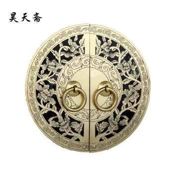 2016 Čínsky starožitný nábytok meď Zámok kruhový Round dverí zaklope skriňa Rich Dalian Vintage Lock Catch pre skriňový