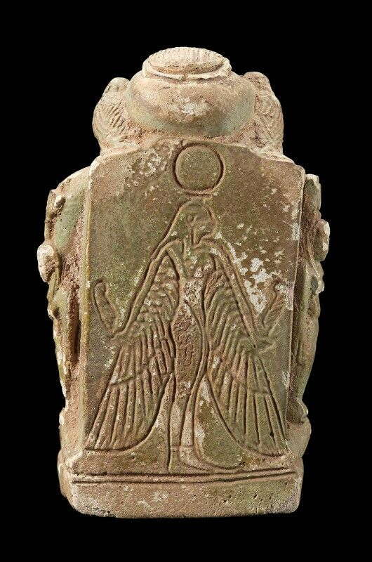 Faience amulet of Pataikos. Back view. Third Intermediate Period–Roman Imperial Period. 1070 B.C.–A.D. 364 | Museum of Fine Arts, Boston