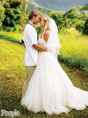 Bethany Hamilton Marries Adam Dirks. Bethany became a household name after a shark attack and her determination to continue surfing.