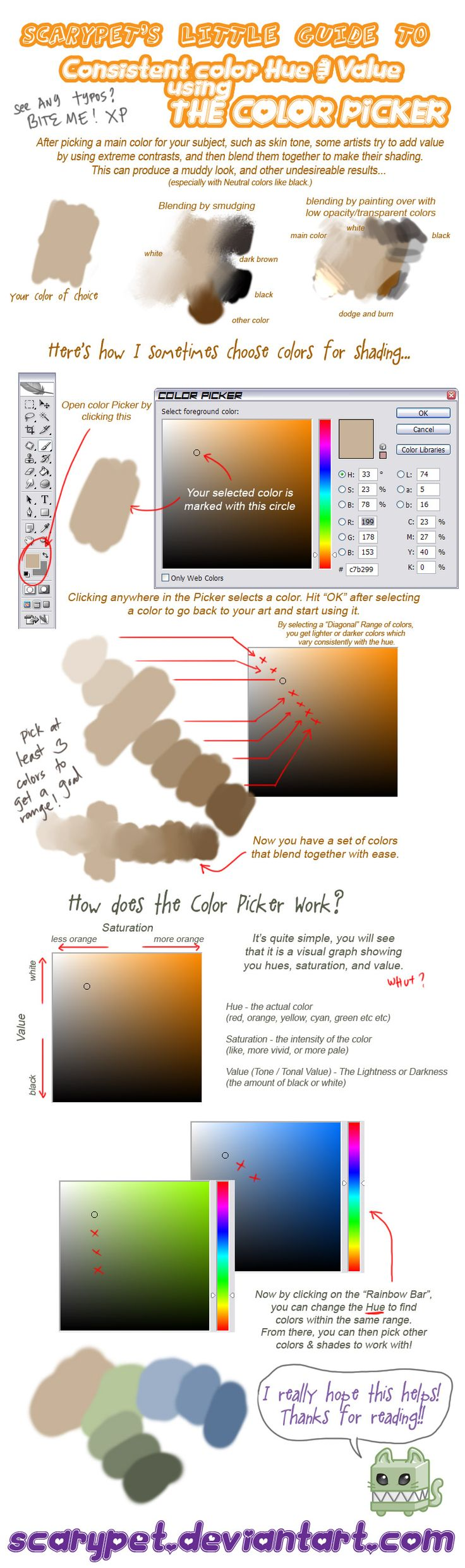 How to color your art in photoshop - Tutorial Picking Colors Ps By Scarypet Painting Tutorialsart Tutorials Photoshop