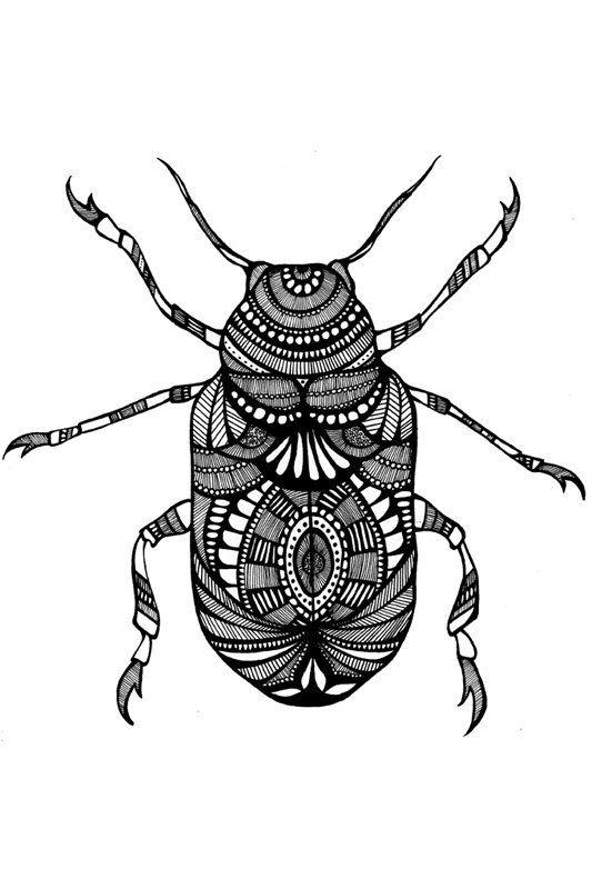 Khepri Beetle print