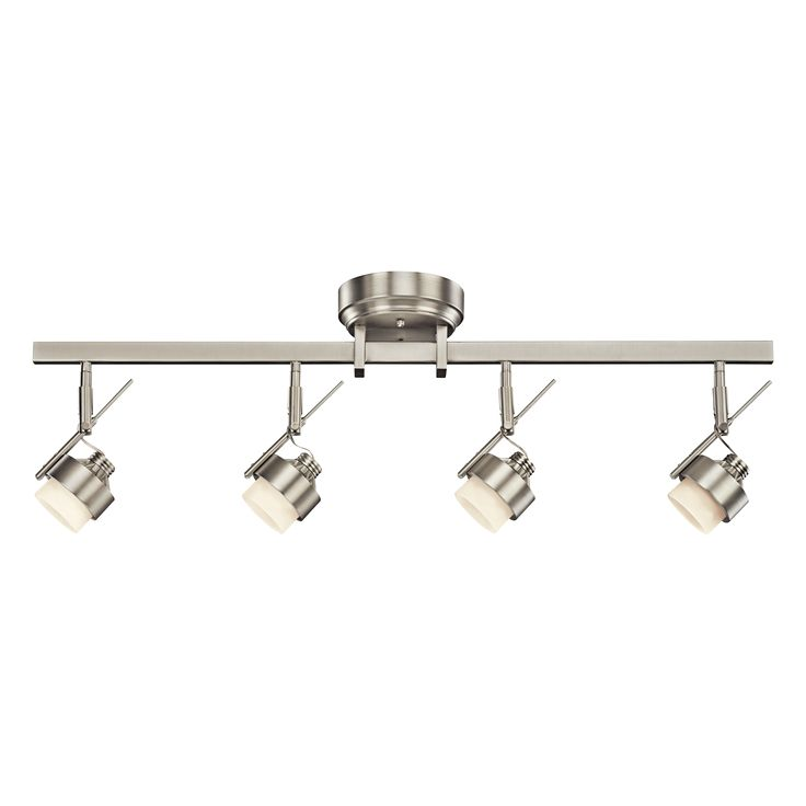 Best 4 Light 11 5 Fixed Rail Fixture In Brushed Nickel With 400 x 300