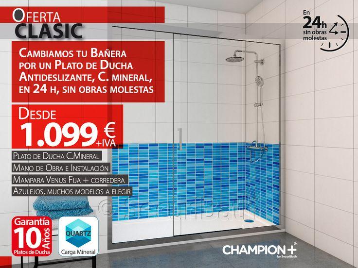 Oferta de cambio de bañera por ducha desde sólo 1.099€ - SecuriBath Solutions