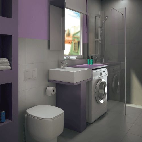 68 best progetta il tuo bagno images on pinterest bathrooms laundry room and attic spaces - Bagno lavanderia ...