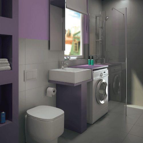 68 best progetta il tuo bagno images on pinterest - Bagno di servizio con lavanderia ...