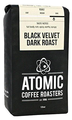 Atomic Cafe Black Velvet Dark Roast Dark Roasted Whole Bean Coffee  12 Ounce Bag ** See this great product.