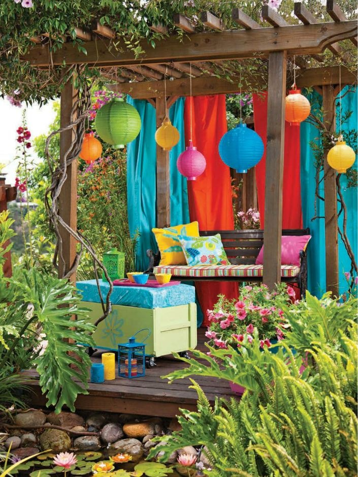 20 diy outdoor curtains sunshades and canopy designs for summer decorating gardens summer - Tent tuin pergola ...