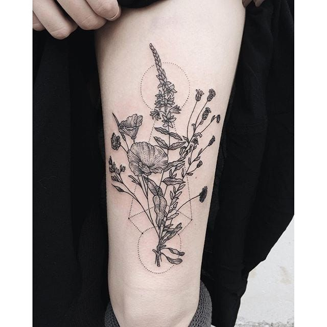 Best 25 garden tattoos ideas on pinterest all flowers for Garden tattoos designs