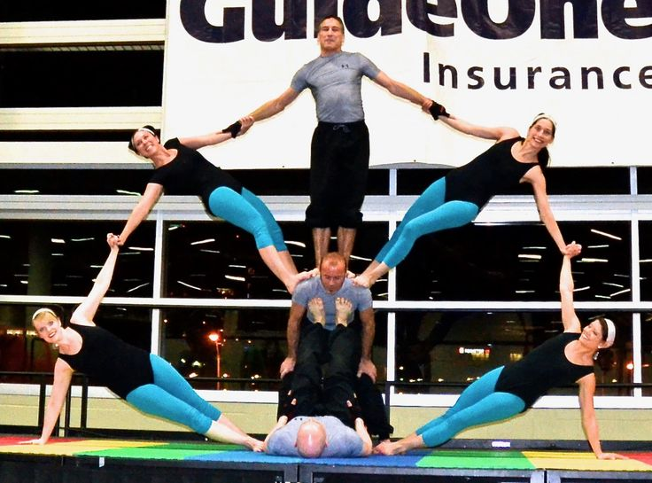 FEAT Acrobatics 7- Person Group Acrobalance stage show