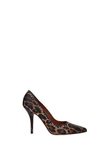 Pumps Givenchy Damen Leder Leopard und Silber BE08824271960 Braun 37.5EU - Sandalen für frauen (*Partner-Link)