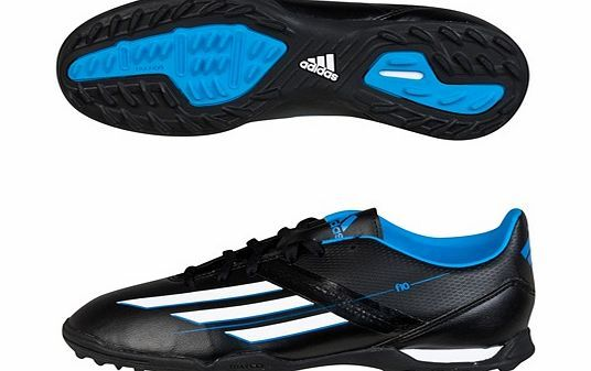 Adidas F10 TRX Astroturf Trainers - Kids Black Kids adidas F10 TRX Firm Ground AstroTurf Boots - KidsGive him the speed he needs to dominate the pitch with these adidas F10 TRX firm ground astroturf trainers for boys. Crafted from a lightweight sy http://www.comparestoreprices.co.uk/football-equipment/adidas-f10-trx-astroturf-trainers--kids-black.asp