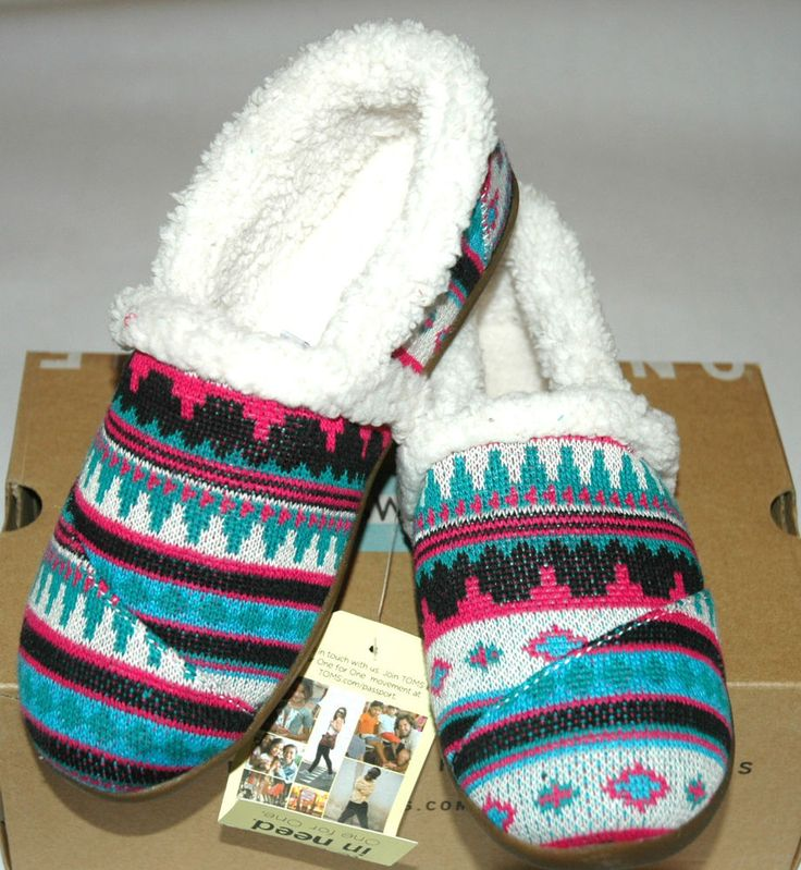 TOMS Tiny Slipper Picante Woolen Fair Isle Tiny Size 4 Baby ...