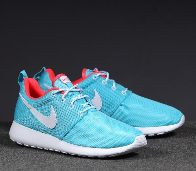 Nike Roshe One Flyknit Womens Casual Shoes Photo Blue/White/University Red GP