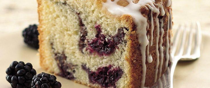 Have you ever picked sun-ripened plump blackberries?  You've just picked a great coffee cake to bake them in!