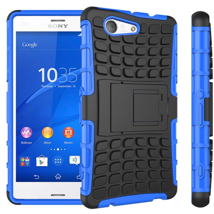 New Case - Blue Rugged Hybrid Kickstand Case For Sony Xperia Z3 Compact Defender Cover, $11.95 (http://www.newcase.com.au/blue-rugged-hybrid-kickstand-case-for-sony-xperia-z3-compact-defender-cover/)
