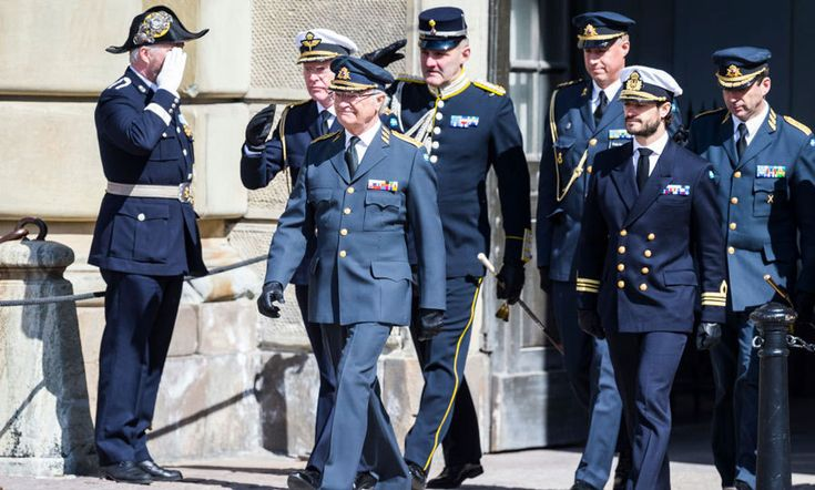 King Carl Gustaf took to the square with his son Prince Carl Philip as he turned 71 on April 30 in Stockholm.