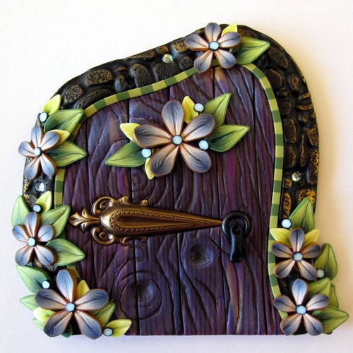 Beautiful Handmade Polymer Clay Hobbit/Fairy Door & 48 best Polymer Clay Fairy Doors \u0026 Tutorials images on Pinterest ...