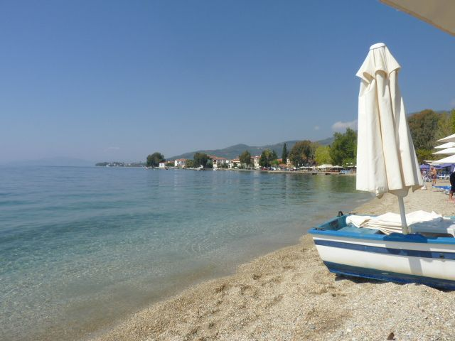 the main beach of Kala Nera, we was late in the season so almost deserted