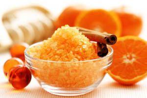 sais de banho laranja