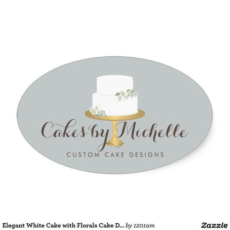 8 best business cards for cake decorating and bakery images on elegant white cake with florals cake decorating oval sticker colourmoves
