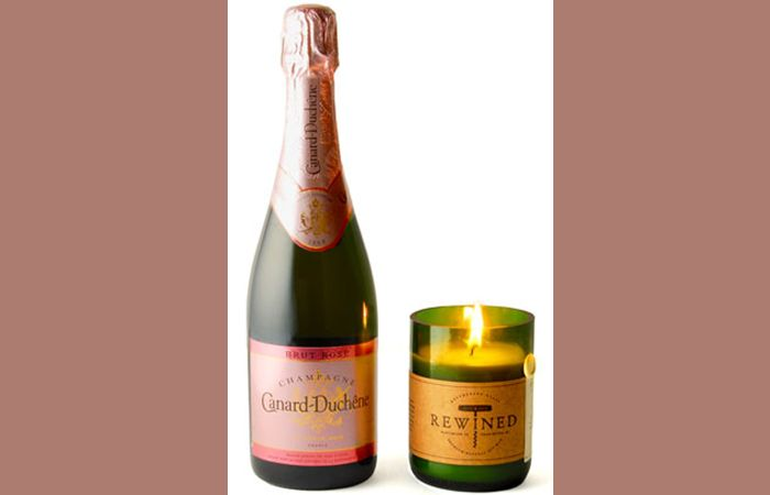 Unwind with Rewined Candle and Canard-Duchene Gift Set - Top 10 Champagne Gift Sets by FriendsEAT