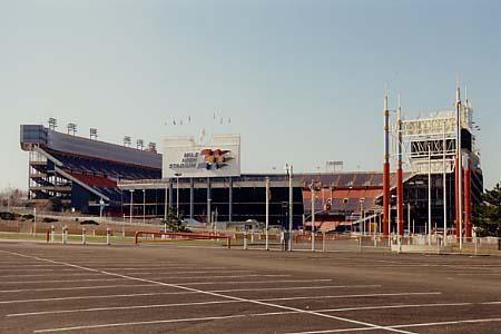 Original Mile High Stadium in Denver