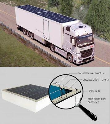 Solución Solar & Led : Integrar paneles solares en la cubierta de un cami...